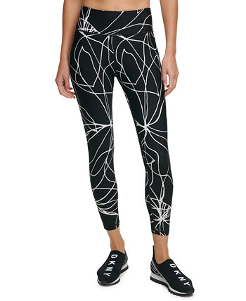 Sport Amaryllis Printed High-Waist Leggings DKNY
