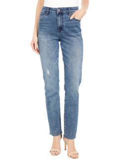 Chrissie High-Rise Slim Straight Leg in Outgoing KUT from the Kloth