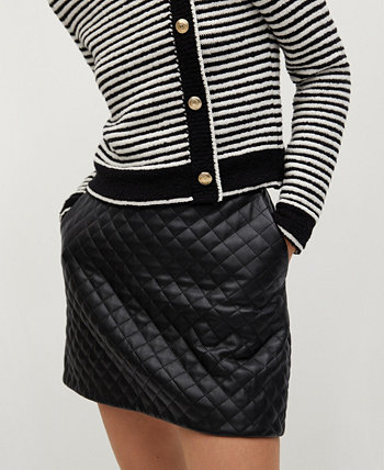 Women's Quilted Mini Skirt MANGO