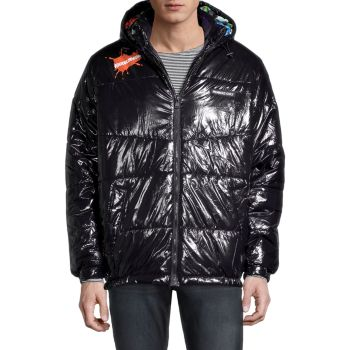Members Only x Nickelodeon Shiny Puffer Members Only