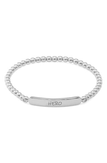 Hero Engraved Beaded Bracelet NADRI