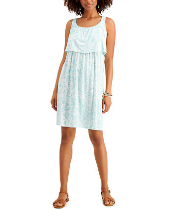 Petite Printed Tiered Dress, Created for Macy's Style & Co
