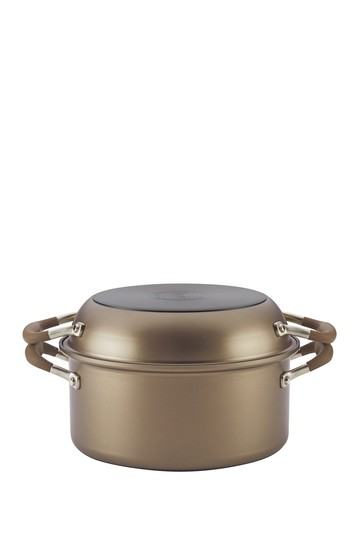 """Advanced Umber 2-in-1 5 Qt. Dutch Oven & 10"""" Everything Pan Anolon"""