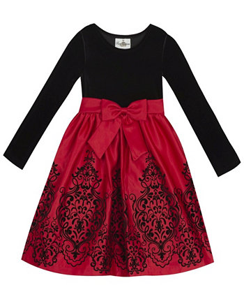 Big Girl Velvet Bodice To Flocked Skirt Rare Editions