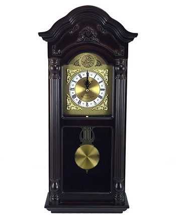 "Clock Collection 25.5"" Chiming Wall Clock with Roman Numerals Bedford"