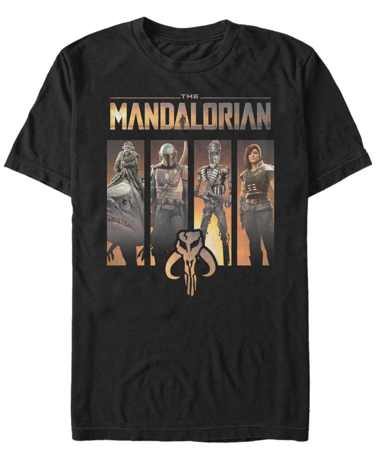 Мужская футболка Mandalorian Boba Fett Group Panels Star Wars